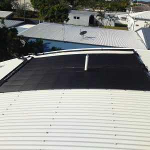 Heliocol Solar panels on curved roof