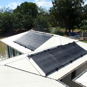 Multi Array Heliocol Solar Panel System split over 2 roofs